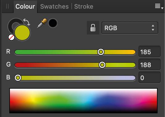 RGB sliders